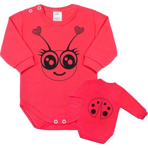 Csecsemő body hosszú ujjú New Baby Állat katicabogár rózsaszín