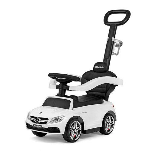 Bébitaxi tolókarral Mercedes Benz AMG C63 Coupe Milly Mally white