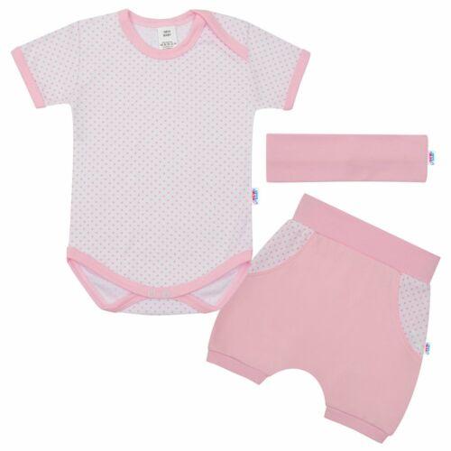 3-részes nyári pamut együttes New Baby Perfect Summer világos rózsaszín