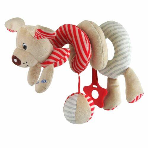 Spirálos játék kiságyra Baby Mix kutyus piros