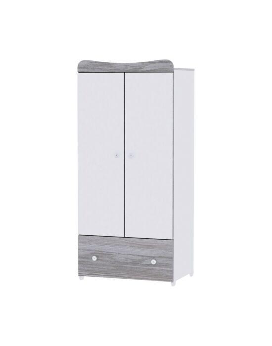 Lorelli Exclusive szekrény - White & Artwood