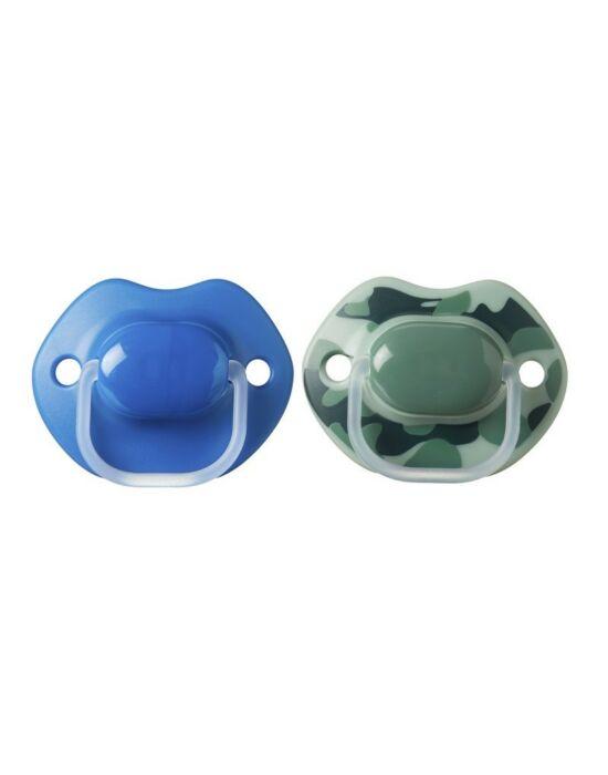 Tommee Tippee Urban style játszócumi 6-18hó 2db fiú(kék-zöld)