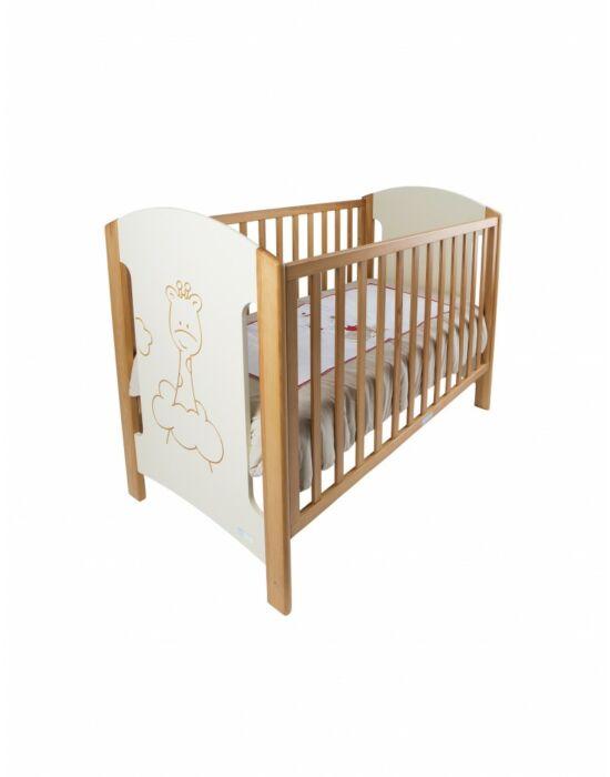 ZY Baby Zsiráf kiságy 60x120 - bézs tölgy