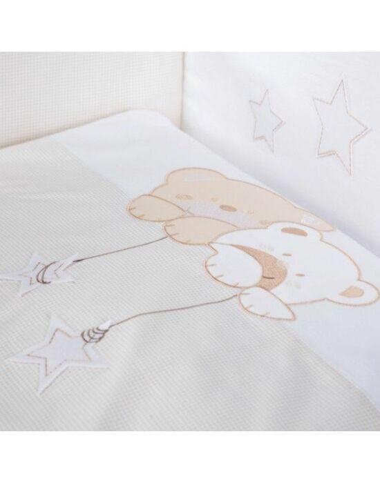 Albero Mio 2 részes ágynemű - H185 Macik csillaggal bézs-fehér