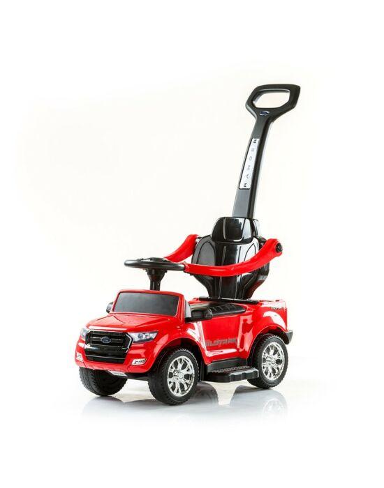 Chipolino Ford Ranger bébitaxi tolókarral - Piros
