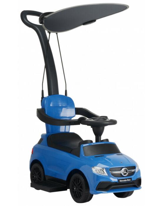 Chipolino Mercedes AMG GLE 63 bébitaxi tolókarral és kupolával - kék