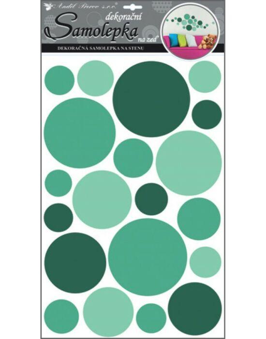 Room-Decor falimatrica Zöld körös 60X32cm