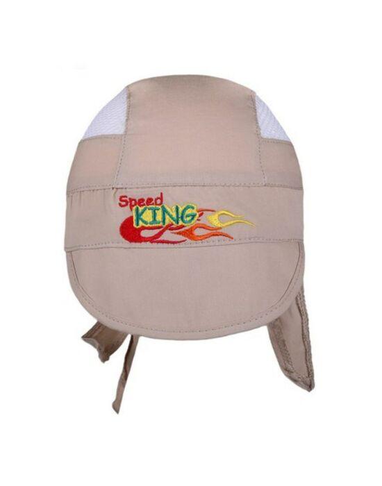 Nyári baseball sapka nyakvédővel New Baby Speed King bézs
