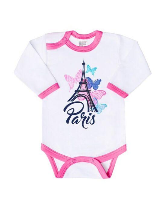 Csecsemő hosszú ujjú body New Baby Towns  rózsaszín