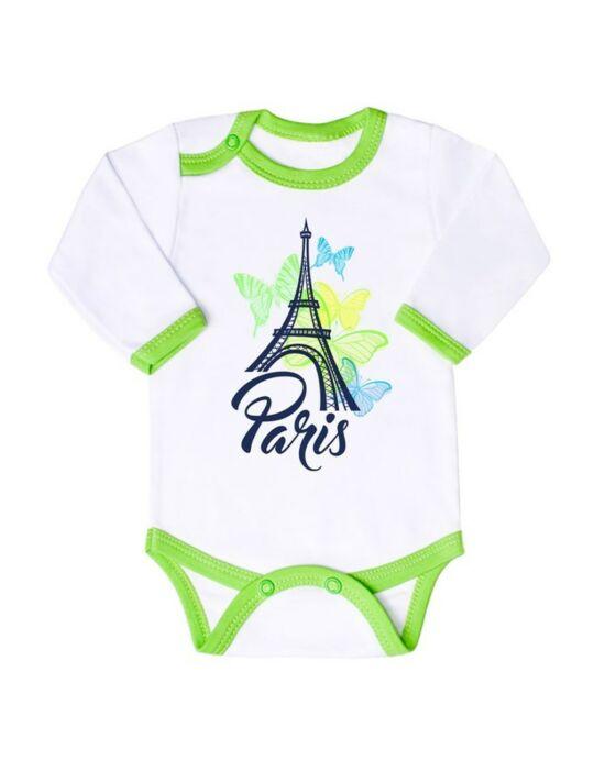 Csecsemő hosszú ujjú body New Baby Towns zöld