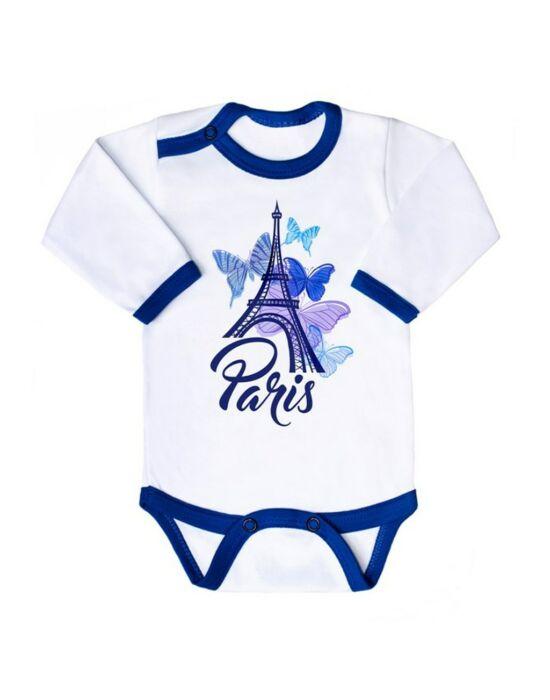 Csecsemő hosszú ujjú body New Baby Towns kék