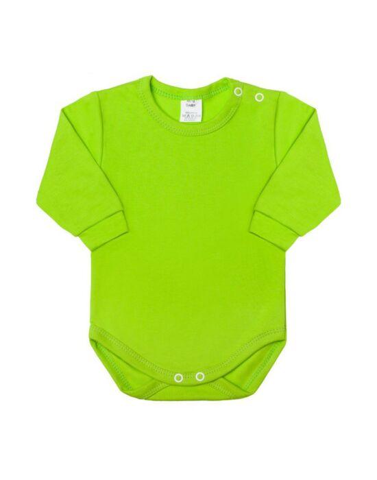 Csecsemő hosszú ujjú body New Baby világos zöld