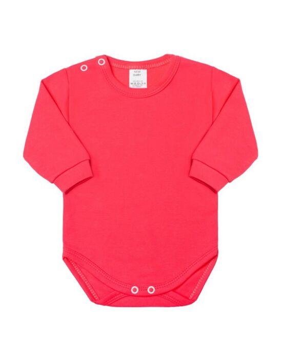 Csecsemő hosszú ujjú body New Baby sötét rózsaszín