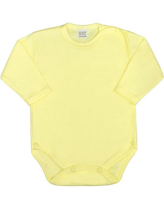 Csecsemő teljes hosszba patentos body New Baby Classic sárga