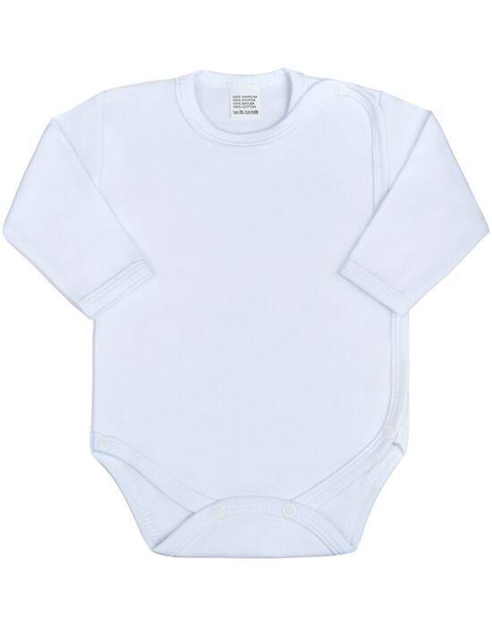 Csecsemő teljes hosszba patentos body New Baby Classic fehér