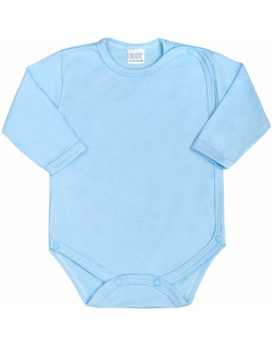 Csecsemő teljes hosszba patentos body New Baby Classic kék