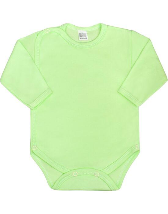 Csecsemő teljes hosszba patentos body New Baby Classic zöld