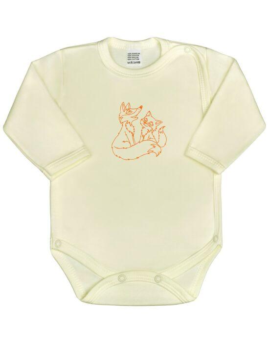 Csecsemő body New Baby Állatkák bézs
