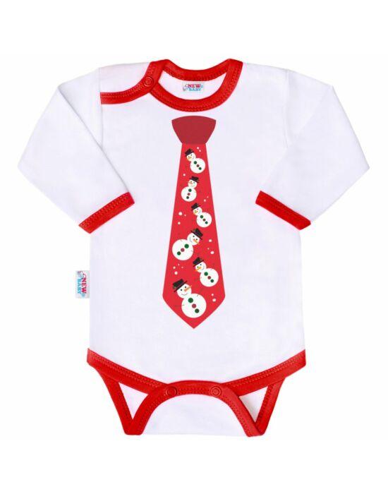 Body nyomtatott mintával New Baby nyakkendővel