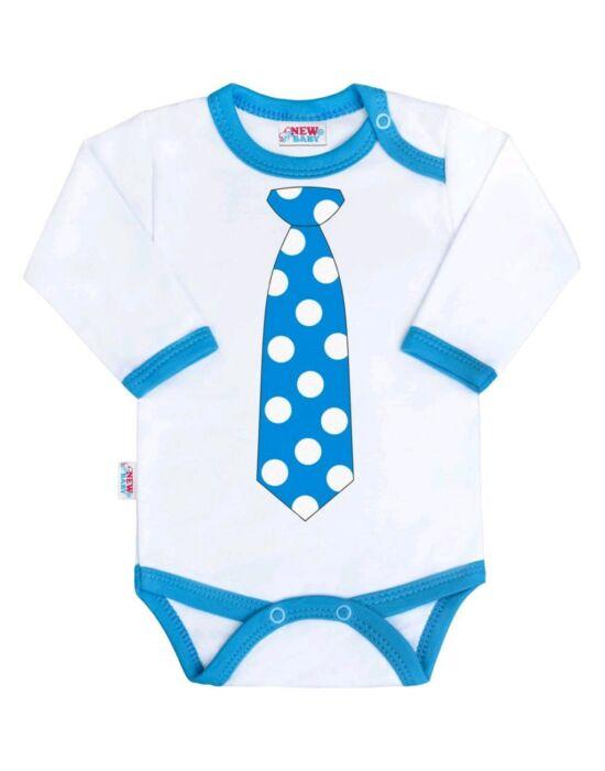 Body nyomtatott mintával New Baby türkiz nyakkendővel