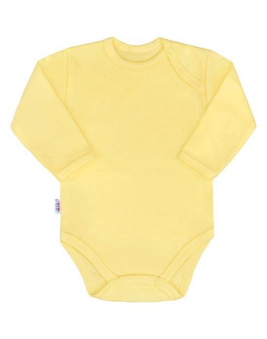 Baba hosszú ujjú body New Baby Pastel sárga
