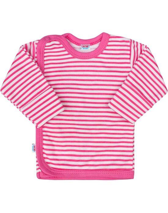 Baba ingecske New Baby Classic II rózsaszín csíkokkal