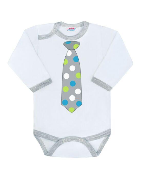 Body nyomtatott mintával New Baby pöttyös nyakkendővel