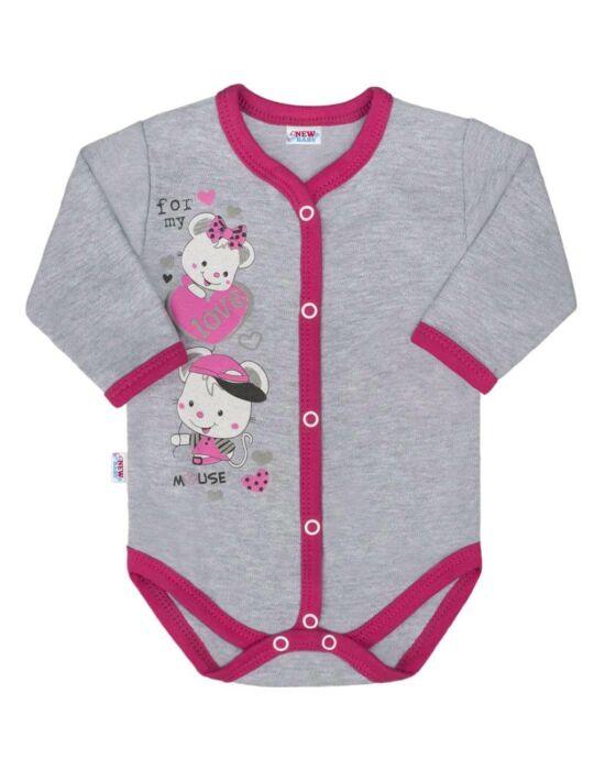 Baba body teljes hosszában patentos New Baby Love Mouse