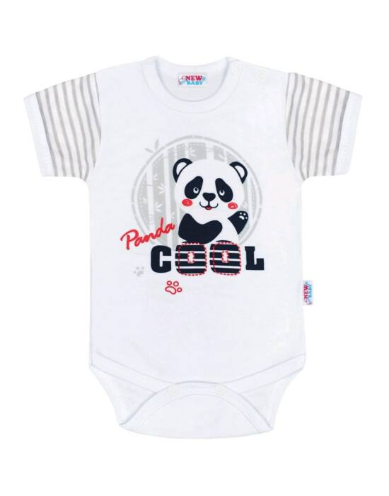Baba rövid ujjú body New Baby Panda