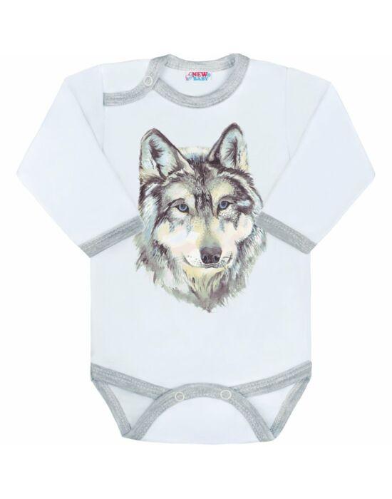 Body nyomtatott mintával New Baby Wolf