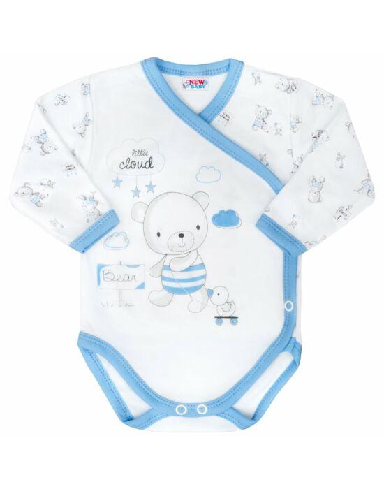 Baba áthajtós patentos body New Baby Bears kék