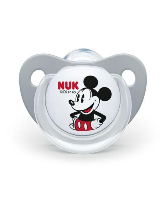 Baba cumi Trendline NUK Disney Mickey 0-6h szürke Box