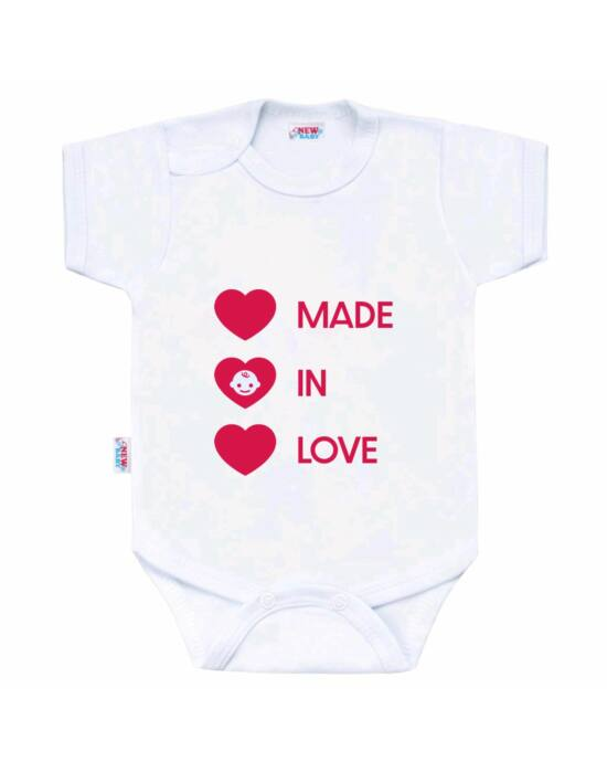 Body nyomtatással New Baby MADE IN LOVE