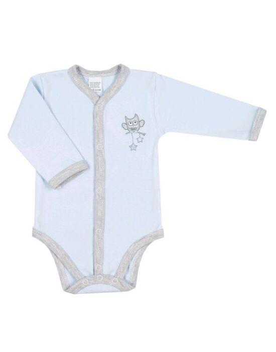Baba patentos body New Baby Owl kék