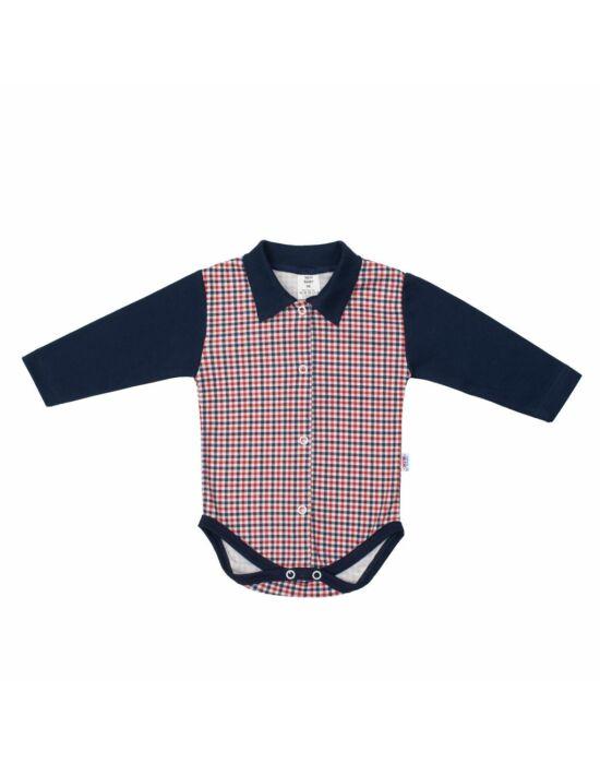 Baba Galléros patentos body New Baby Checkered kék
