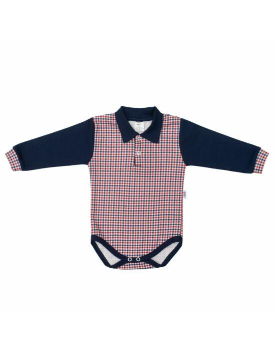 Baba Galléros body New Baby Checkered kék