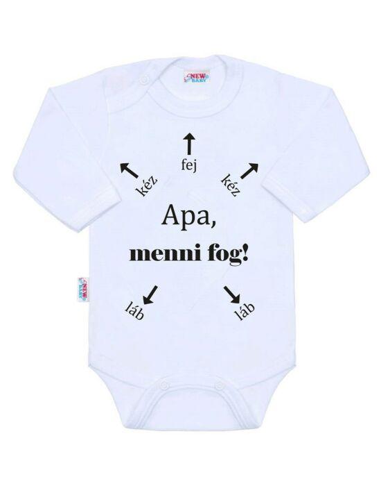 Body nyomtatással New Baby Apa, menni fog!