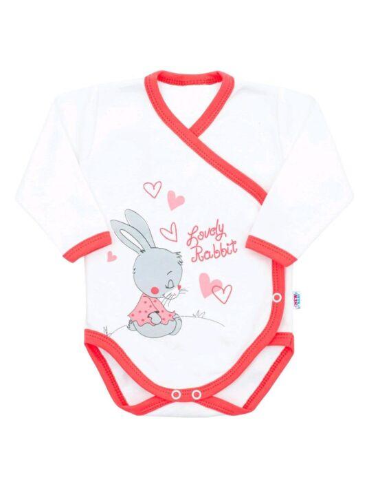 Baba body oldalsó bekapcsolással New Baby Lovely Rabbit rózsaszín