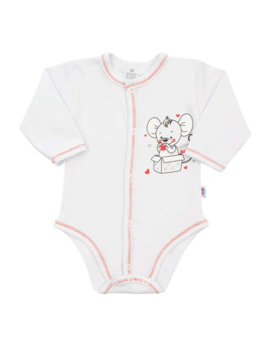 Baba patentos body New Baby Mouse fehér