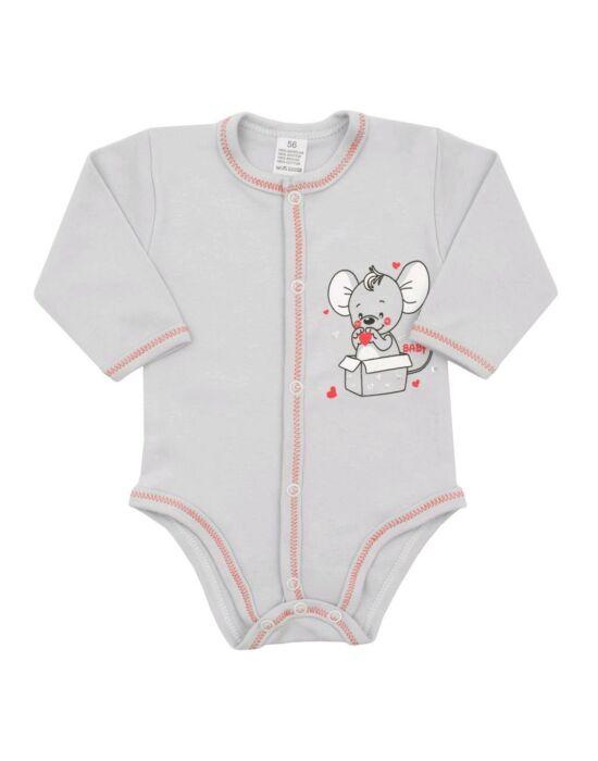 Baba patentos body New Baby Mouse szürke