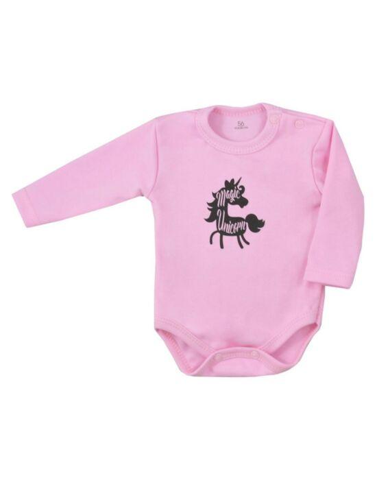 Baba hosszú ujjú body Koala Magic Animals rózsaszín