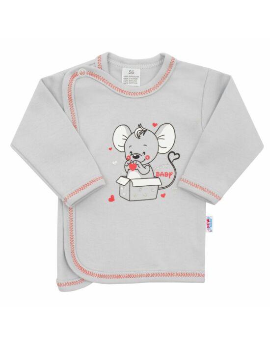 Baba ingecske New Baby Mouse szürke
