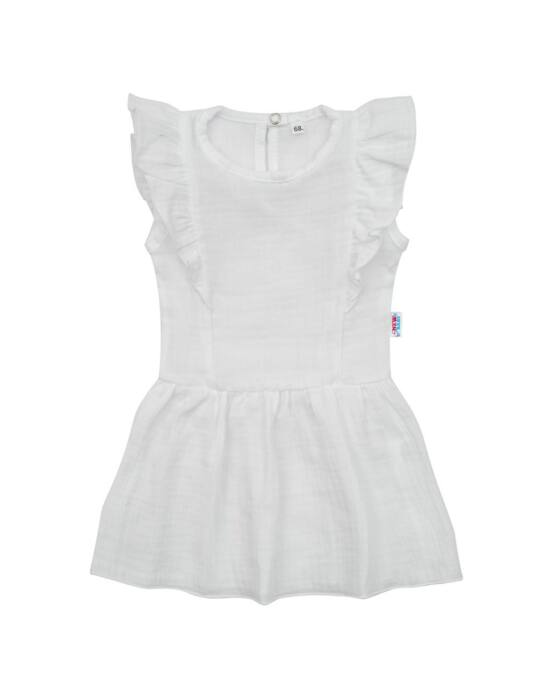 Baba muszlin ruha New Baby Summer Nature Collection fehér