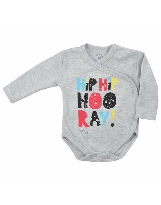 Baba body patentos Koala Hip-Hip szürke