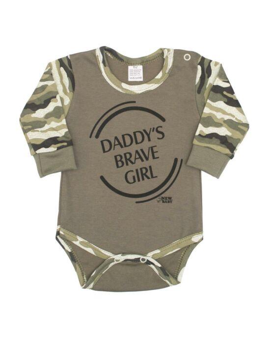 Baba hosszú ujjú body New Baby Army girl