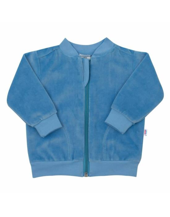 velúr pulóver szürke New Baby Baby kék