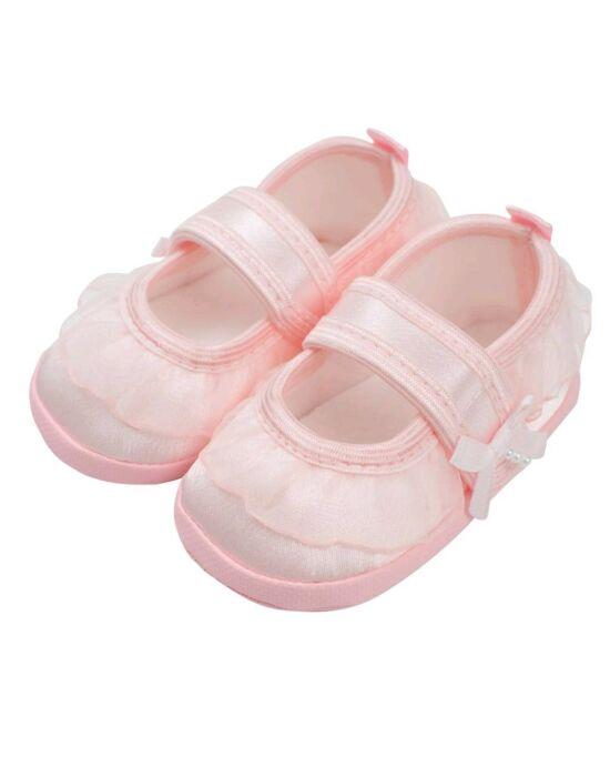 Baba kislányos cipő New Baby szatén rózsaszín 6-12 h