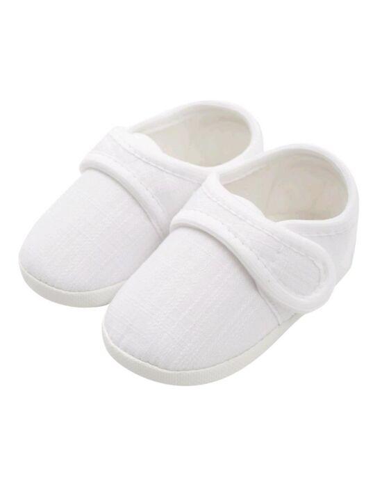 Baba kiscipő New Baby Linen fehér 3-6 h