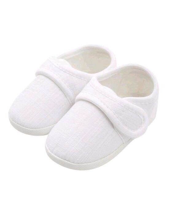 Baba kiscipő New Baby Linen fehér 12-18 h