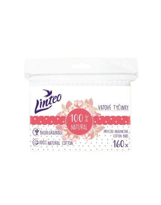 Papír fültisztító pálcika 100% natural Linteo 160 db zacskóban
